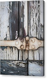 Acrylic Print featuring the photograph Hinge On Old Shutters by Elena Elisseeva