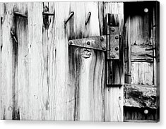 Hinged In Black And White Acrylic Print