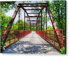 Hinkson Creek Bridge Acrylic Print by Cricket Hackmann