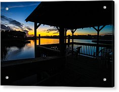 Hinson House Dock Verison Two Acrylic Print by Bill Cantey