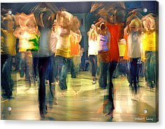 Hip Hop Dance Night Acrylic Print by Robert Lacy