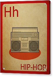 Hip Hop Vintage Flashcard Acrylic Print by Mynameisjz JZ