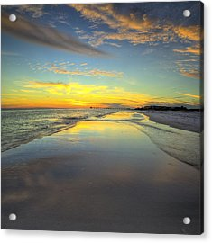 Hip To Be Square In Destin Acrylic Print by JC Findley