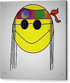 Hippie Face Acrylic Print by Bill Cannon