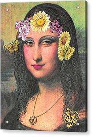 Hippie Gioconda Acrylic Print