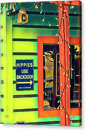 Hippies Use Backdoor Acrylic Print