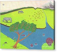 Hippo Awareness Acrylic Print