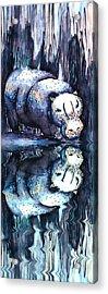 Hippo Reflection Acrylic Print by Geckojoy Gecko Books