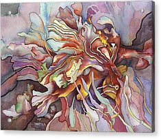 Hippocampe Rouge Acrylic Print by Liduine Bekman