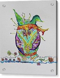 Hippy Owl- Vertical Format Acrylic Print