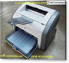 Hire A Printer - It Rentals Acrylic Print