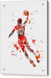 His Airness Acrylic Print by Rebecca Jenkins