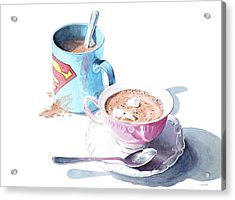 His And Hers Cocoa Acrylic Print by Christopher Reid