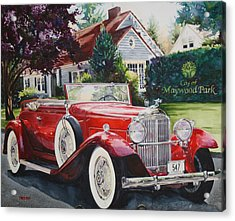 His And Hers Packard 1932 Acrylic Print by Mike Hill