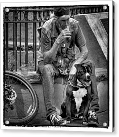 His Best Friend II Acrylic Print by David Patterson