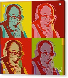 His Holiness The Dalai Lama Of Tibet Acrylic Print