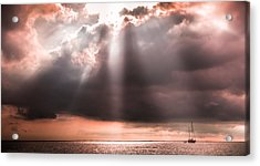 His Light Of Reassurance Acrylic Print by Karen Wiles
