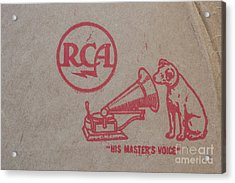 Acrylic Print featuring the photograph His Masters Voice Rca by Edward Fielding