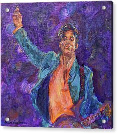 His Purpleness - Prince Tribute Painting - Original Art Acrylic Print