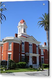 Historic Baker County Courthouse Acrylic Print by Warren Thompson