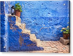 Historic Blue Stairs Acrylic Print by Jess Kraft
