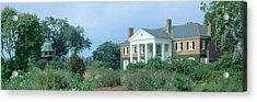 Historic Boone Hall Cotton Plantation Acrylic Print by Panoramic Images
