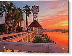 Historic Bridge Street Pier Sunrise Acrylic Print