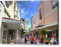 Historic Camaguey Cuba Prints Commercial Center Acrylic Print