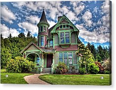 Acrylic Print featuring the photograph Historic Castle In Drain Oregon by Tyra  OBryant