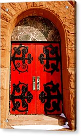 Historic Church Doors Acrylic Print by Sonja Anderson