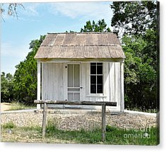 Acrylic Print featuring the photograph Historic Clint's Cabin by Ray Shrewsberry