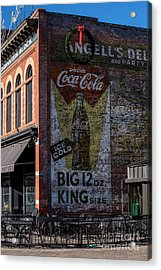 Historic Coca Cola Brick Ad - Fort Collins - Colorado Acrylic Print by Gary Whitton