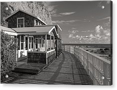 Historic Cottage  Crystal Cove Black And White Acrylic Print by Cliff Wassmann