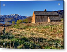 Historic Francis Tate Barn - Wasatch Mountains Acrylic Print