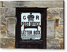 Historic Georgian Letter Box Detail Acrylic Print by James Brunker