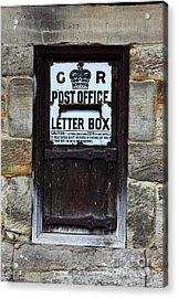 Historic Georgian Post Box Acrylic Print by James Brunker
