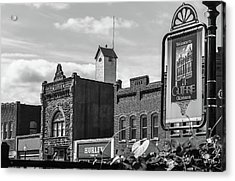 Historic Guthrie Oklahoma In Black And White Acrylic Print