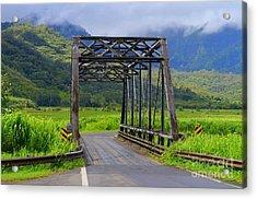 Historic Hanalei Bridge - Kauai Hawaii Acrylic Print
