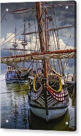 Historic Jamestown Ships Acrylic Print by Randall Nyhof