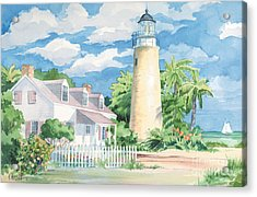 Historic Key West Lighthouse Acrylic Print by Paul Brent