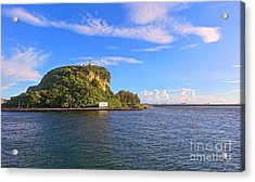 Acrylic Print featuring the photograph Historic Lighthouse On Chijin Island by Yali Shi