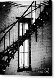 Historic Lighthouse Steps Acrylic Print by JMerrickMedia