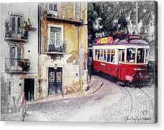 Historic Lisbon Tram Acrylic Print