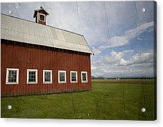Historic Red Barn Acrylic Print by Bonnie Bruno