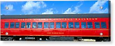 Historic Red Passenger Car, Austin & Acrylic Print by Panoramic Images