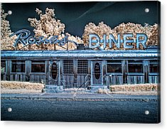 Historic Rosie's Diner In Infrared Near Rockford Michigan Acrylic Print by Randall Nyhof