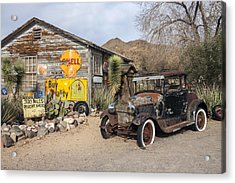 Historic Route 66 - Old Car And Shed Acrylic Print