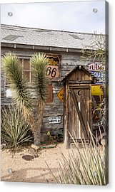 Historic Route 66 - Outhouse 1 Acrylic Print