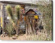Historic Route 66 - Outhouse 2 Acrylic Print