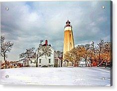 Historic Sandy Hook Lighthouse Acrylic Print by Geraldine Scull